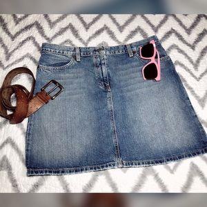 J. CREW, distressed, denim, mini skirt!!